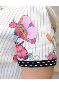 CRISTINAEFFE - Sukienka w kwiatowy print. Kolor: beżowy. Wzór: kwiaty, nadruk