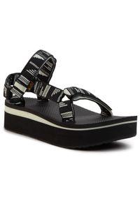 Czarne sandały Teva casualowe, na co dzień