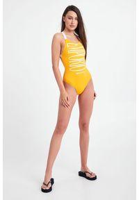 Emporio Armani Swimwear - STRÓJ KĄPIELOWY EMPORIO ARMANI SWIMWEAR. Materiał: tkanina