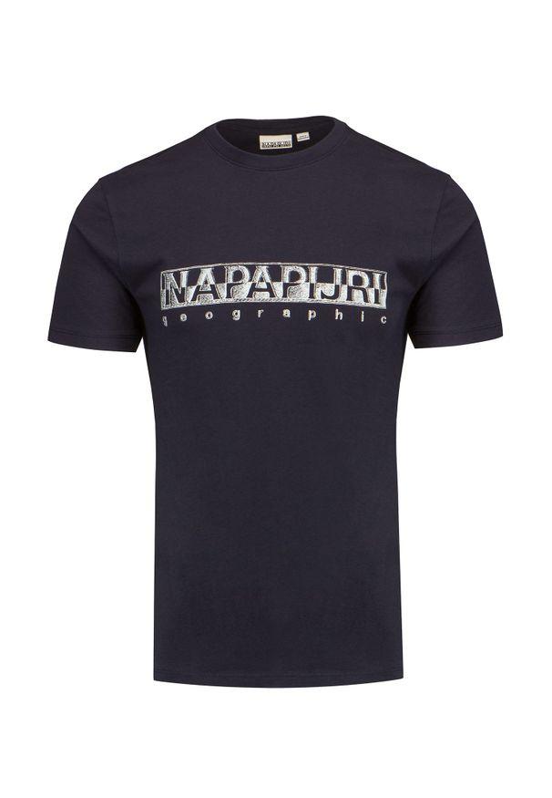 Napapijri - T-shirt NAPAPIJRI SALLAR SS. Materiał: bawełna, prążkowany. Wzór: jednolity