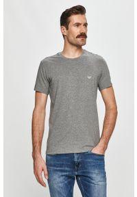 Wielokolorowy t-shirt Emporio Armani na co dzień, z aplikacjami, casualowy