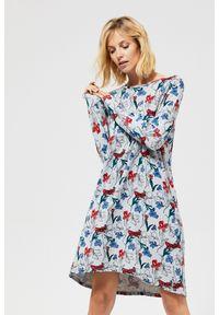 Szara sukienka MOODO prosta, na co dzień #6