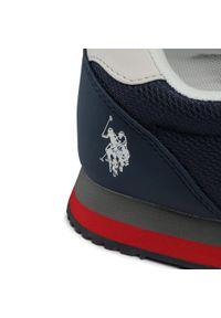 U.S. Polo Assn - Sneakersy U.S. POLO ASSN. - Brandon2 WILYS4127S0/MY2 Whi/Navy. Okazja: na co dzień. Kolor: biały. Materiał: skóra ekologiczna, materiał. Szerokość cholewki: normalna. Styl: casual, sportowy, elegancki