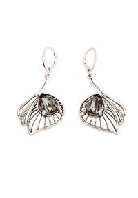 Polcarat Design - Kolczyki srebrne z kryształami Swarovskiego K 1644. Materiał: srebrne. Kolor: srebrny. Wzór: aplikacja. Kamień szlachetny: kryształ