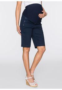 Szorty ciążowe z guzikami bonprix ciemnoniebieski. Kolekcja: moda ciążowa. Kolor: niebieski