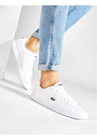 Lacoste Sneakersy Graduate Bl 1 SMA 737SMA005321G Biały. Kolor: biały