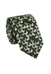 Zielony krawat Giacomo Conti w kolorowe wzory
