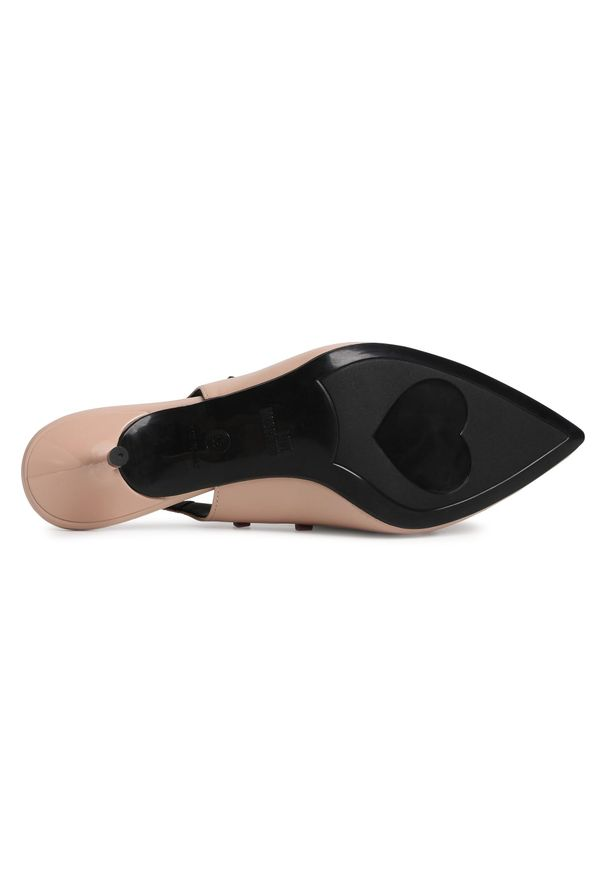 Różowe sandały Love Moschino eleganckie, z aplikacjami