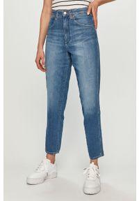 Niebieskie jeansy loose fit Wrangler z podwyższonym stanem