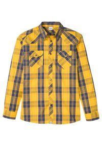 Żółta koszula bonprix z długim rękawem, długa