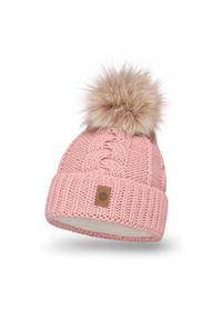 Różowa czapka zimowa PaMaMi