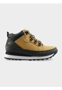 Beżowe buty zimowe 4f casualowe, na jesień, z cholewką, na co dzień