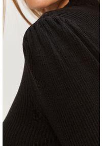 Czarny sweter Vila z okrągłym kołnierzem