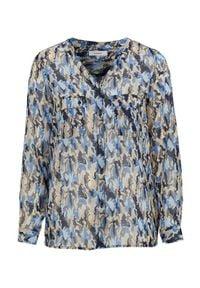 Soyaconcept Bluzka Ella niebieski we wzory female niebieski/ze wzorem XXL (46). Kolor: niebieski. Materiał: tkanina. Długość rękawa: długi rękaw. Długość: długie