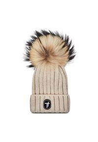 Beżowa czapka zimowa Togoshi