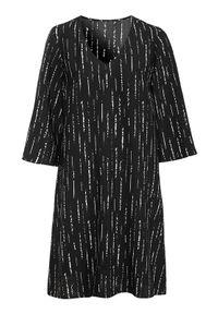 Czarna sukienka Cellbes elegancka, z dekoltem w serek