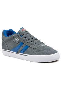 Globe - Sneakersy GLOBE - Encore-2 GBENCO2 Iron/Blue 15299. Okazja: na spacer, na co dzień. Kolor: szary. Materiał: skóra, zamsz. Szerokość cholewki: normalna. Styl: sportowy, klasyczny, elegancki, casual