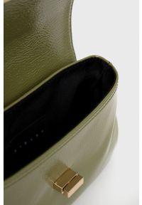 Sisley - Torebka. Kolor: zielony. Rodzaj torebki: na ramię