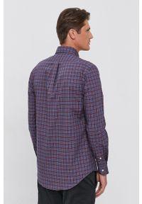Polo Ralph Lauren - Koszula bawełniana. Typ kołnierza: polo. Materiał: bawełna. Długość rękawa: długi rękaw. Długość: długie