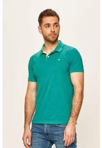 Zielona koszulka polo Tom Tailor Denim casualowa, polo, na co dzień, krótka