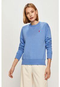 Polo Ralph Lauren - Bluza bawełniana. Okazja: na co dzień. Typ kołnierza: polo. Kolor: niebieski. Materiał: bawełna. Styl: casual