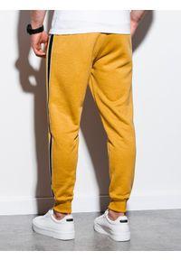 Żółte spodnie Ombre Clothing eleganckie, gładkie #5
