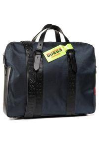 Niebieska torba na laptopa Guess