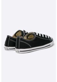 Czarne tenisówki Converse na sznurówki, z okrągłym noskiem