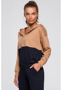 e-margeritka - Bluza damska z kapturem bawełniana - 2xl/3xl. Okazja: na co dzień. Typ kołnierza: kaptur. Materiał: bawełna. Styl: elegancki, casual