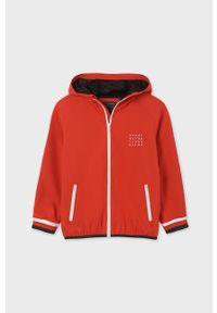 Czerwona kurtka Mayoral z kapturem, casualowa, raglanowy rękaw