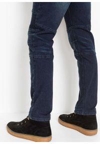 Dżinsy ze stretchem Slim Fit Straight bonprix ciemnoniebieski denim. Kolor: niebieski