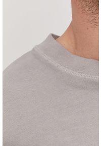 Szara bluza nierozpinana Tigha na co dzień, bez kaptura, casualowa, gładkie