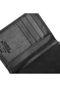 Wittchen - Męski portfel skórzany bez zapięcia. Kolor: czarny. Materiał: skóra