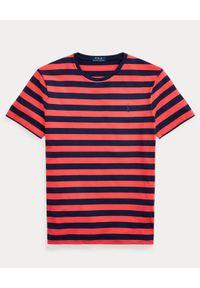 Ralph Lauren - RALPH LAUREN - T-shirt w paski Classic Fit. Okazja: na co dzień. Typ kołnierza: polo. Kolor: czerwony. Wzór: paski. Styl: casual