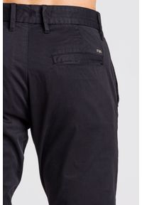 Czarne spodnie Emporio Armani z aplikacjami