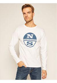 Biała koszulka z długim rękawem North Sails