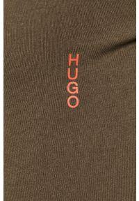 Zielony t-shirt Hugo gładki, na co dzień, casualowy #9
