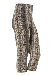 Beżowe legginsy Cellbes z nadrukiem