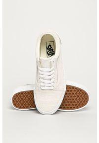 Vans - Tenisówki skórzane Old Skool. Nosek buta: okrągły. Zapięcie: sznurówki. Kolor: biały. Materiał: skóra