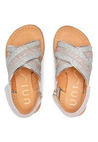 Unisa - Sandały UNISA - Goleta Bon M Silve/Rosa. Kolor: srebrny. Materiał: skóra. Sezon: lato. Styl: wakacyjny, młodzieżowy