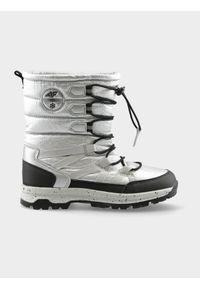 Srebrne buty sportowe 4f na zimę, na co dzień, z cholewką