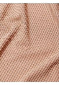 mango - Mango Bluzka Anne 87004029 Brązowy Slim Fit. Kolor: brązowy