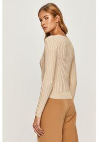 Złoty sweter Pepe Jeans z długim rękawem, długi