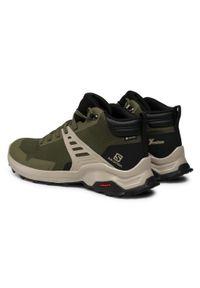Zielone buty trekkingowe salomon trekkingowe, Gore-Tex