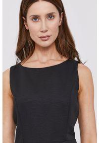 BARDOT - Bardot - Sukienka. Kolor: czarny. Długość rękawa: na ramiączkach. Typ sukienki: dopasowane