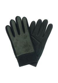 Szare rękawiczki Pako Jeans klasyczne, na zimę
