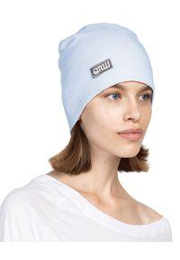 ROBERT KUPISZ - Błękitna czapka FOREVER BEANIE. Kolor: niebieski. Materiał: wełna, puch. Sezon: jesień, zima