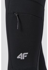 4f - 4F - Legginsy. Stan: podwyższony. Kolor: czarny. Materiał: włókno, materiał