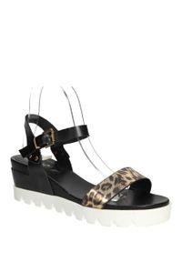 Czarne sandały S.Barski klasyczne, na lato