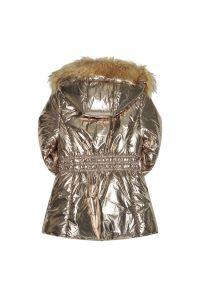 Złota kurtka puchowa Mayoral